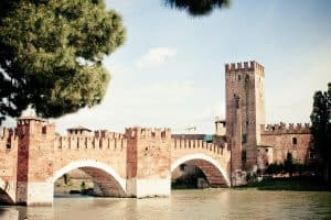 A tower in Verona, Italy