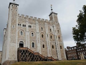 A view of the Tower of London from the ground