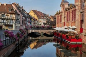 An Easter or Spring photo of Colmar from the river