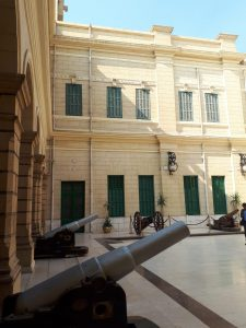 Cannons are placed around the Inner Court