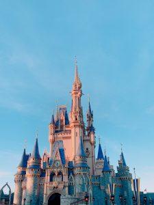 Cinderella Castle at Disney World Orlando FL USA