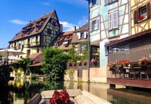 Colmar France in Spring form the river