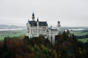 Neuschwanstein Castle from the nearby bridge