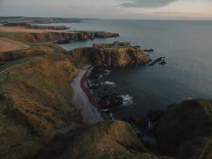 Sea views from Scottish cliffs