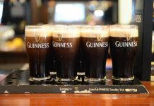 Pints of Guinness at a pub