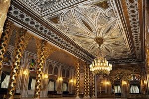 The golden hall in Mohamed Ali Palace