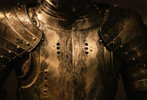The intricate details on chestplate armour are stunning
