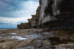 The stunning rocky cliffs of the Aran Islands