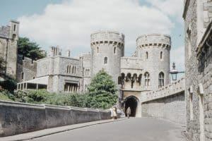 The stunning Windsor Castle in the UK