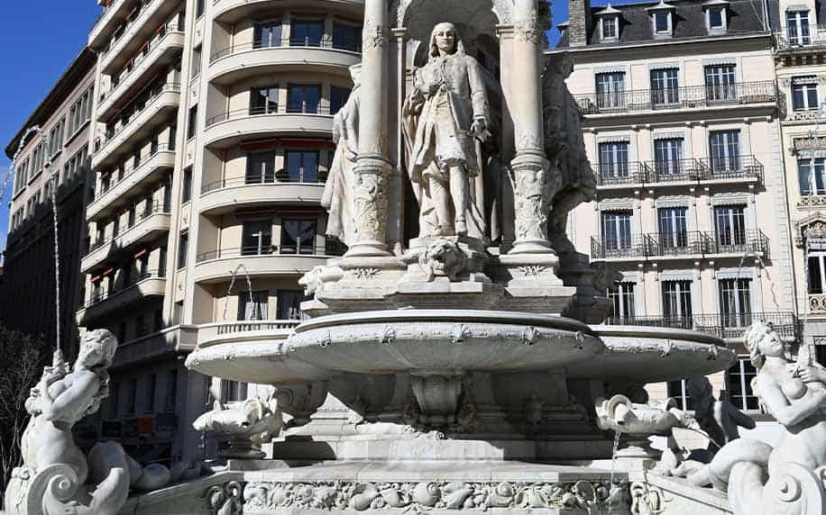 the fountain by gaspard andre sitting in jacobins square