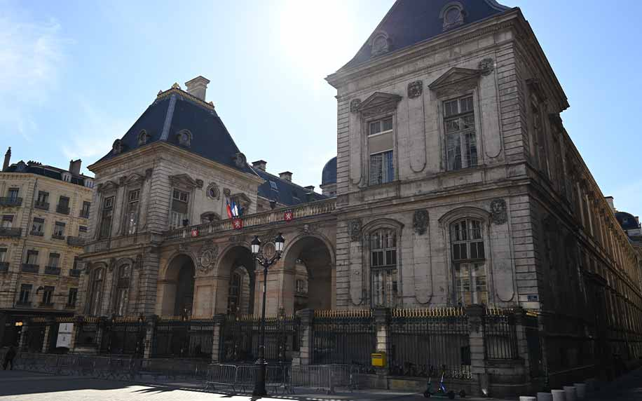 a picture of Lyon's town hall