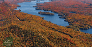 The lake range in Adirondack mountains, located between Old Forge and Inlet, NY.