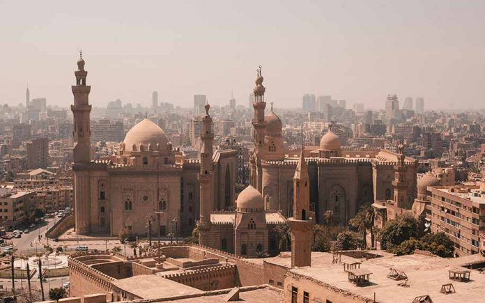 a shot of the cairo of skyline highlighting the citadel of Cairo