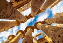 pillars in the city of Luxor. stay in top hotels in luxor to see these beautiful sights