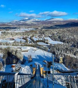 Ski jump from Olympic games. Located in Lake Placid, New York state