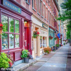 main street Skaneateles, New York state