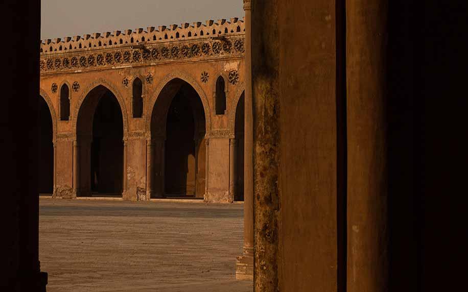 a shot of the interior of the cairo citadel or saladin citadel