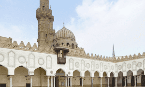 Al-Azhar Mosque in Egypt is decadent in design and detail
