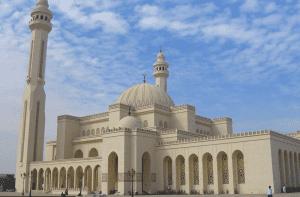 Landscape shot of Al-Fath Mosque in Egypt