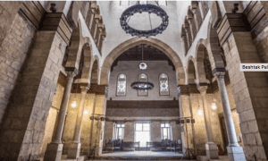 Interior of a grand hall inBeshtak Palace, Cairo