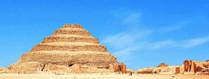 Djoser Step Pyramid (Saqqara) stands tall in Egypt