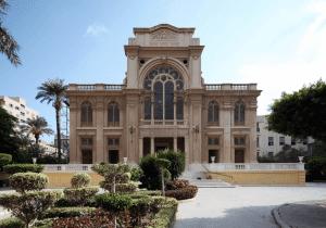 Front Entrance of Eliyahu Hanavi Synagogue in Egypt