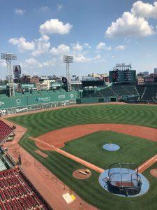 an overlook of Fenway Park in Boston