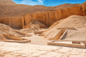 The interior of the Valley of Nobels in Egypt