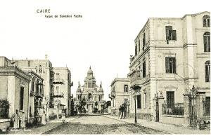 Old drawing of El Sakkakini Palace