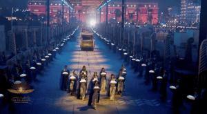 The Golden Royal Mummy Parade at the evening