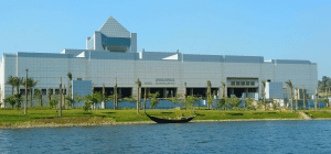 The National Museum of Egyptian Civilization which hosts the Golden Royal Mummy Parade