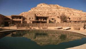 Overlook of Cleopatra's Eye in Siwa Oasis