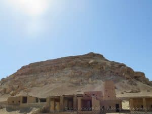 Dakrur Mountain stands tall just outside of Siwa Oasis