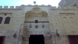 A ground shot of the hanging mosque in El Fayoum