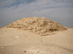 a worn Pyramid of Seila in El Fayoum