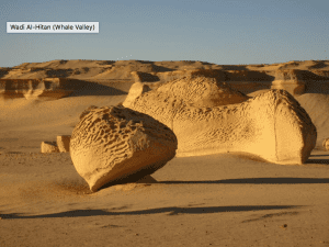 Sandy boulders located in El Fayum's national park.