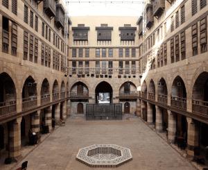 Interior framed photo of the Al Ghuri in Cairo