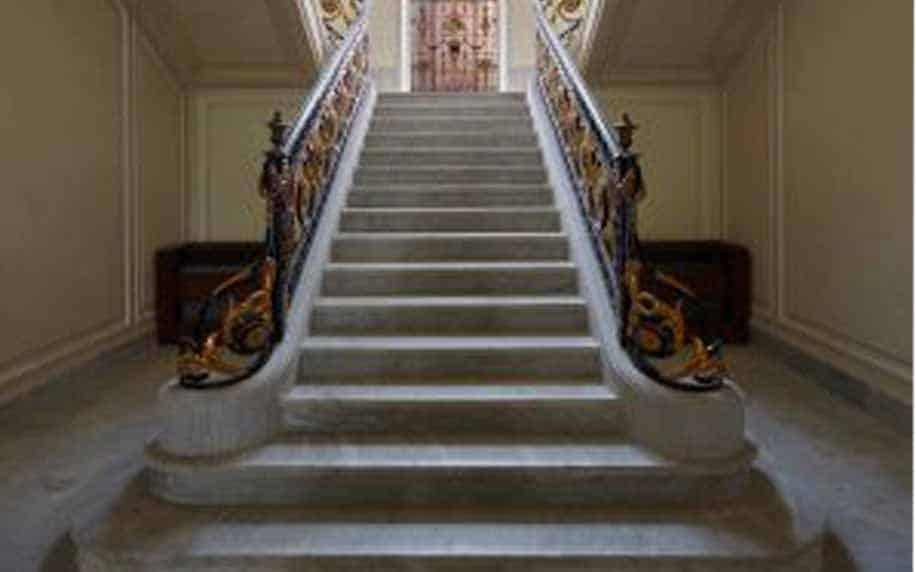 a picture of the incredible staircase at aisha fahmy palace