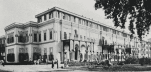 A dated photo of the exterior of Al Gezira Palace