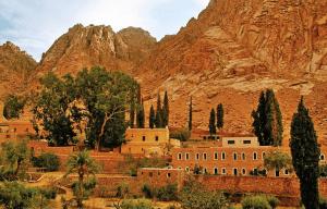 the monastery gardens at Saint Catherine Monastery