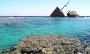 A ship wreck found in the Nabq Reserve located in Dahab