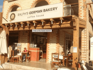 an exterior view of the famous Ralphs Bakery located in Dahab