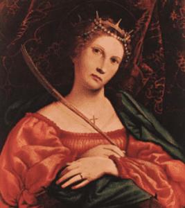 Oil painting portrait of Saint Catherine