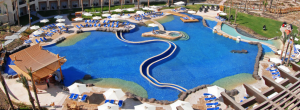 the pools in the tropitel hotel that is located in Sahl Hashish