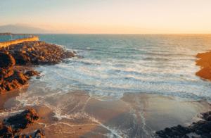 The sun sets on the glorious beach on Clare Island off the coast of Ireland