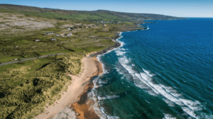 The coast of Clare and Fanore beach in Ireland