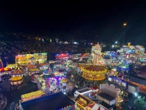 The Goose fair grounds in Nottingham