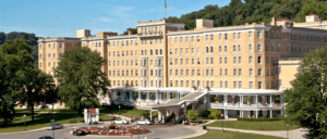 The exterior of the regal French Lick hotel in America