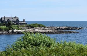 The Bush Estate creeps into frame at Kennebunkport in New England