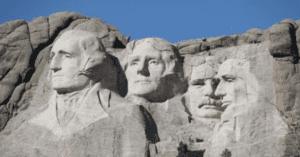 Mount Rushmore carved in South Dakota in America